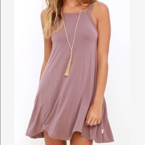 RVCA Thievery Mauve Dress